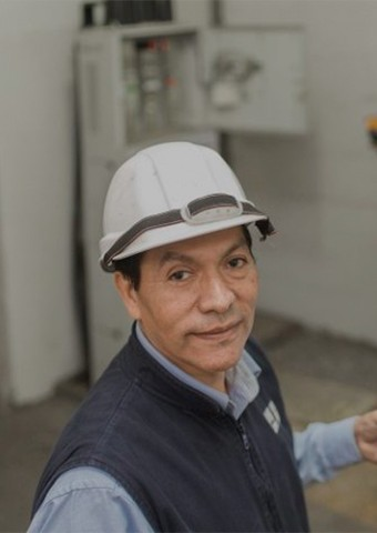 Gregorio Tello maintenance engineer of Enel Distribución Perú