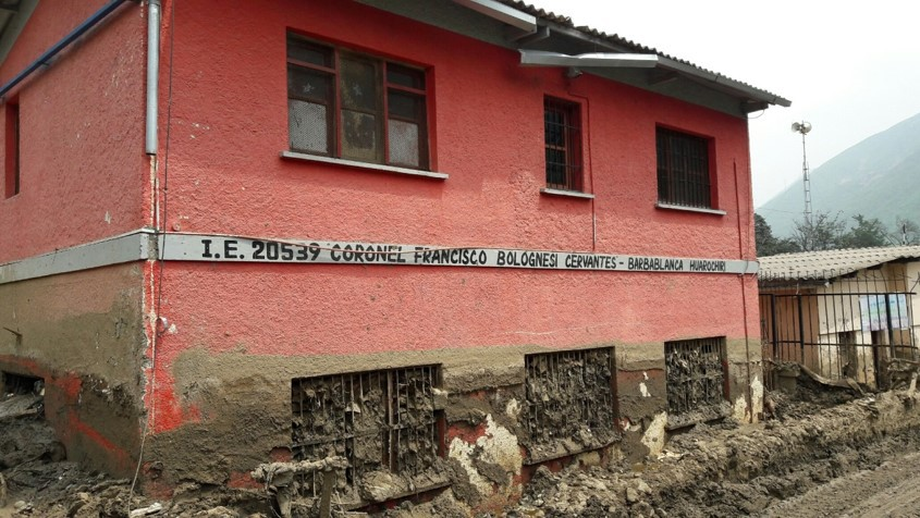 Barbablanca's educational centre was also affected by the landslide