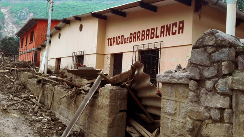 Barbablanca's health post remained uninhabitable