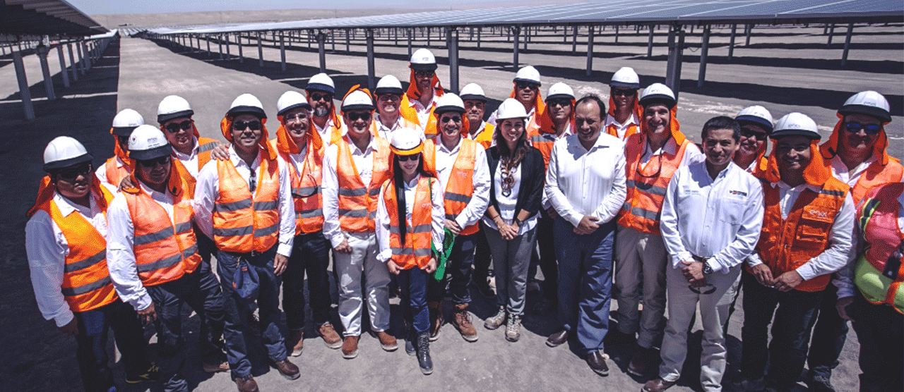 Enel workers at the Rubí solar plant
