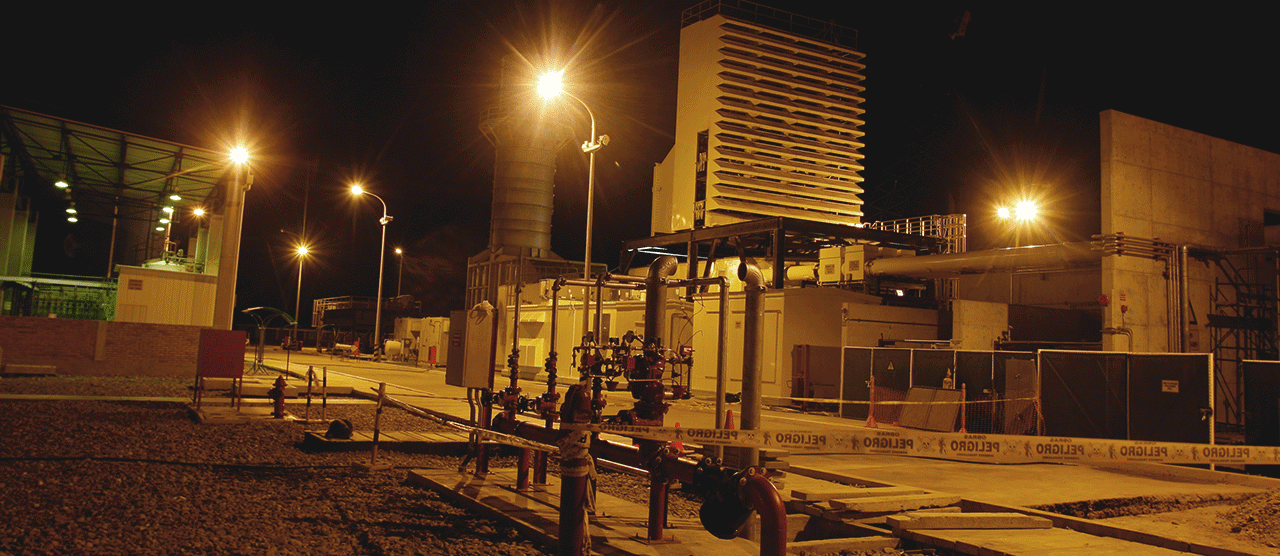 Enel power station at night