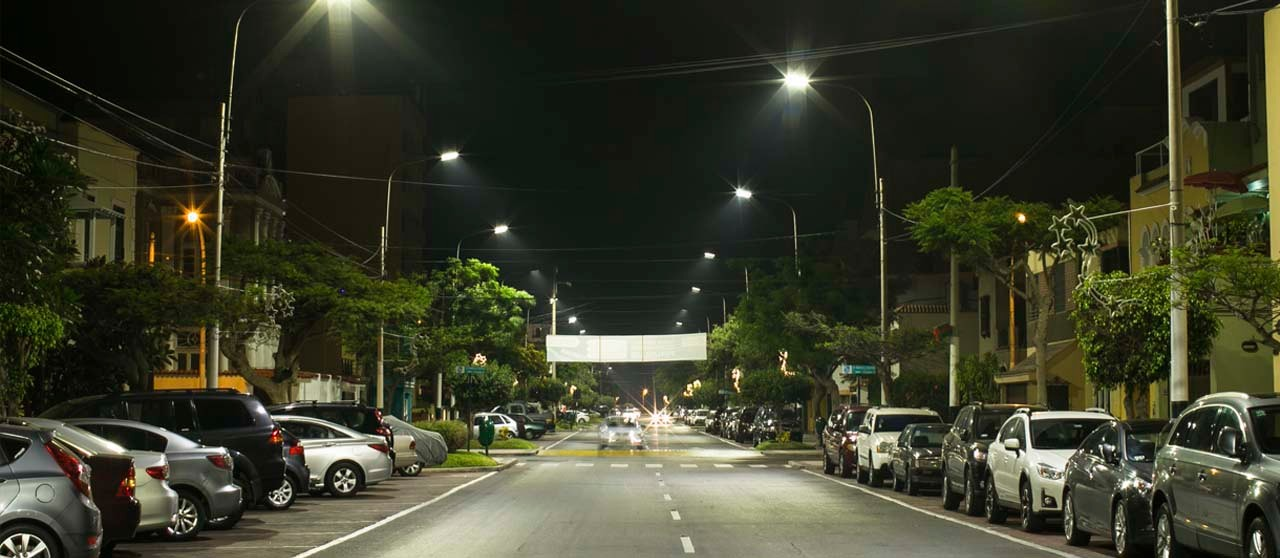 LED lighting in the district of La Punta